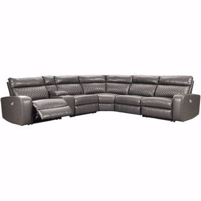Picture of Samperstone 6PC Power Reclining Sectional