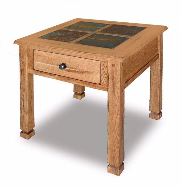 Sedona Rustic Oak End Table 3144 2 Afw