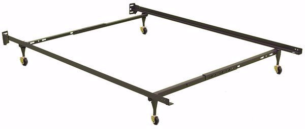 Picture of Twin / Full Bed frame on Castors