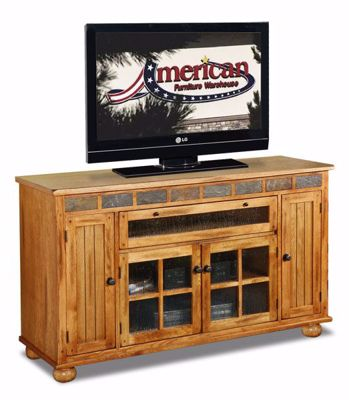 "Picture of Sedona 62"" Counter Height TV Console"