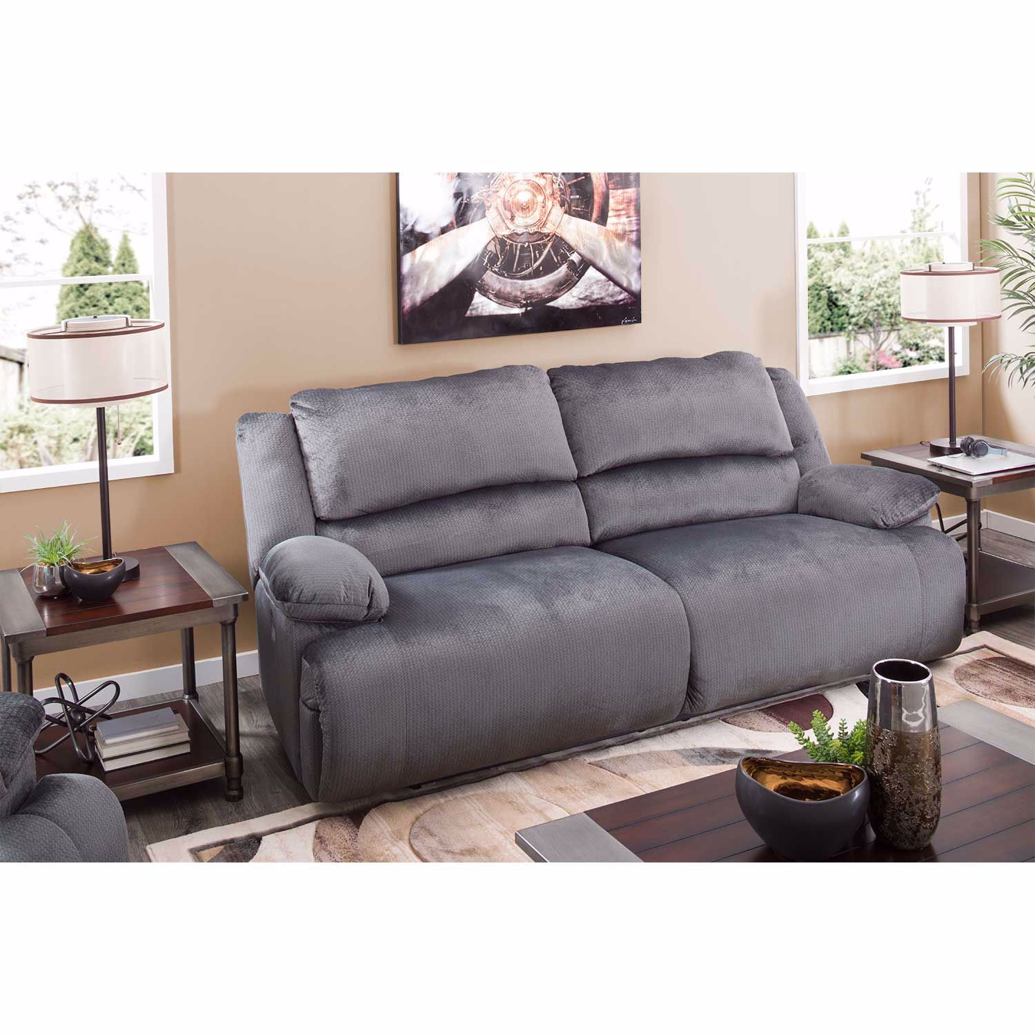 Magnificent Charcoal Power Reclining Loveseat Gmtry Best Dining Table And Chair Ideas Images Gmtryco