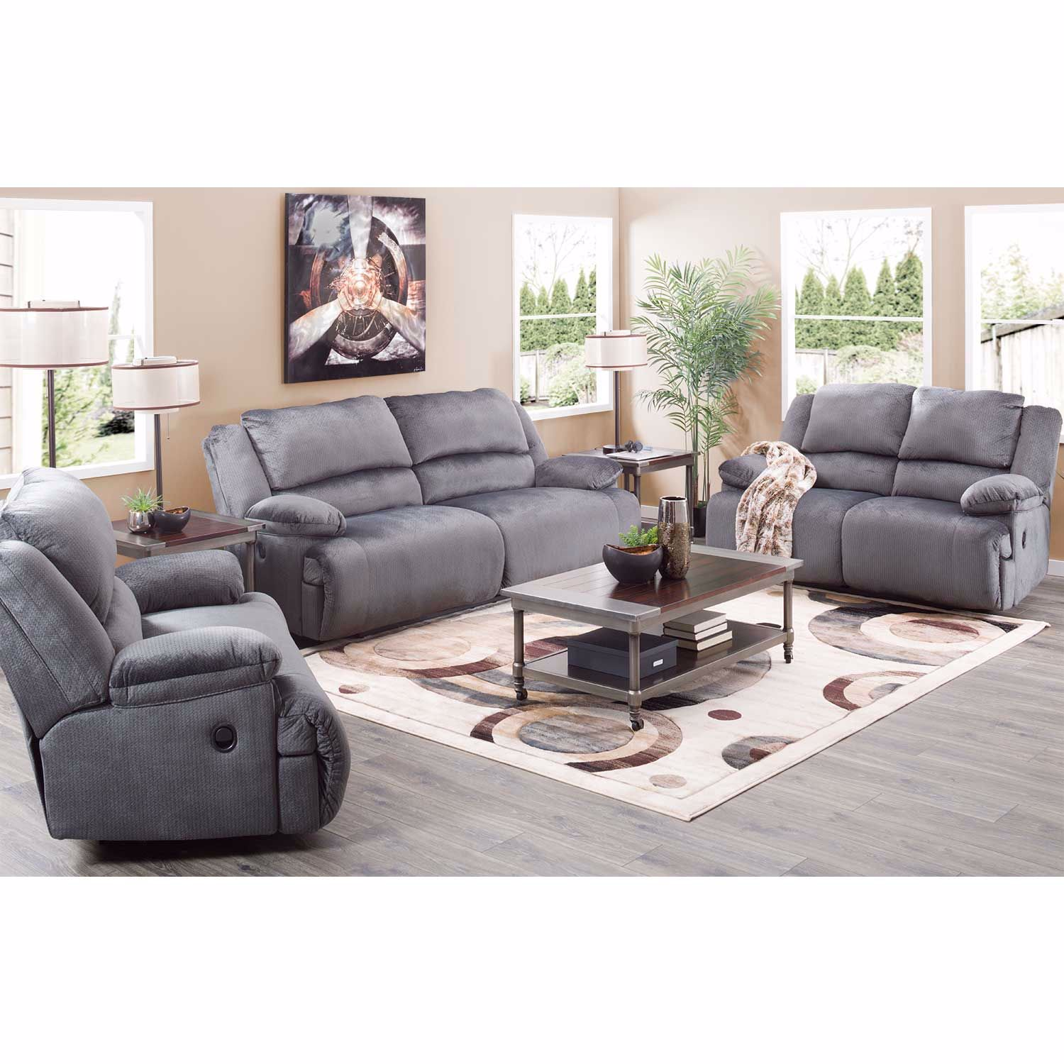 Picture of Charcoal Power Reclining Sofa