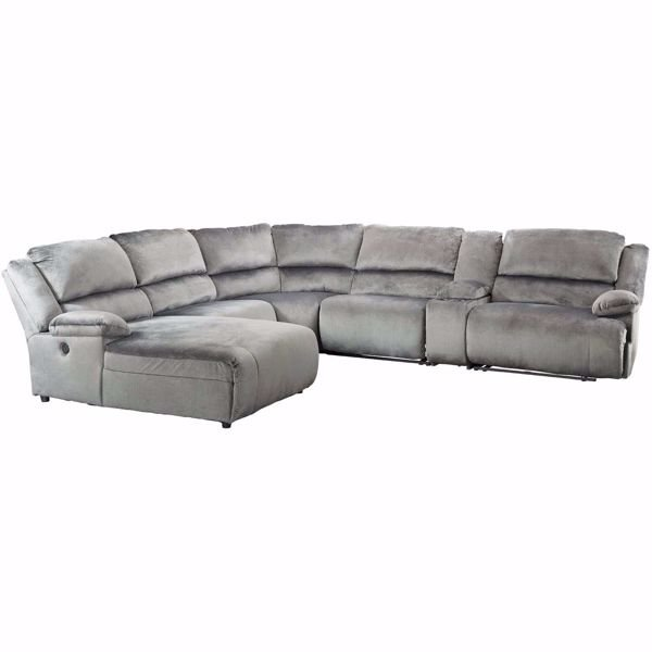 Picture of Clonmel 6 Piece Power Reclining Sectional with LAF Chaise