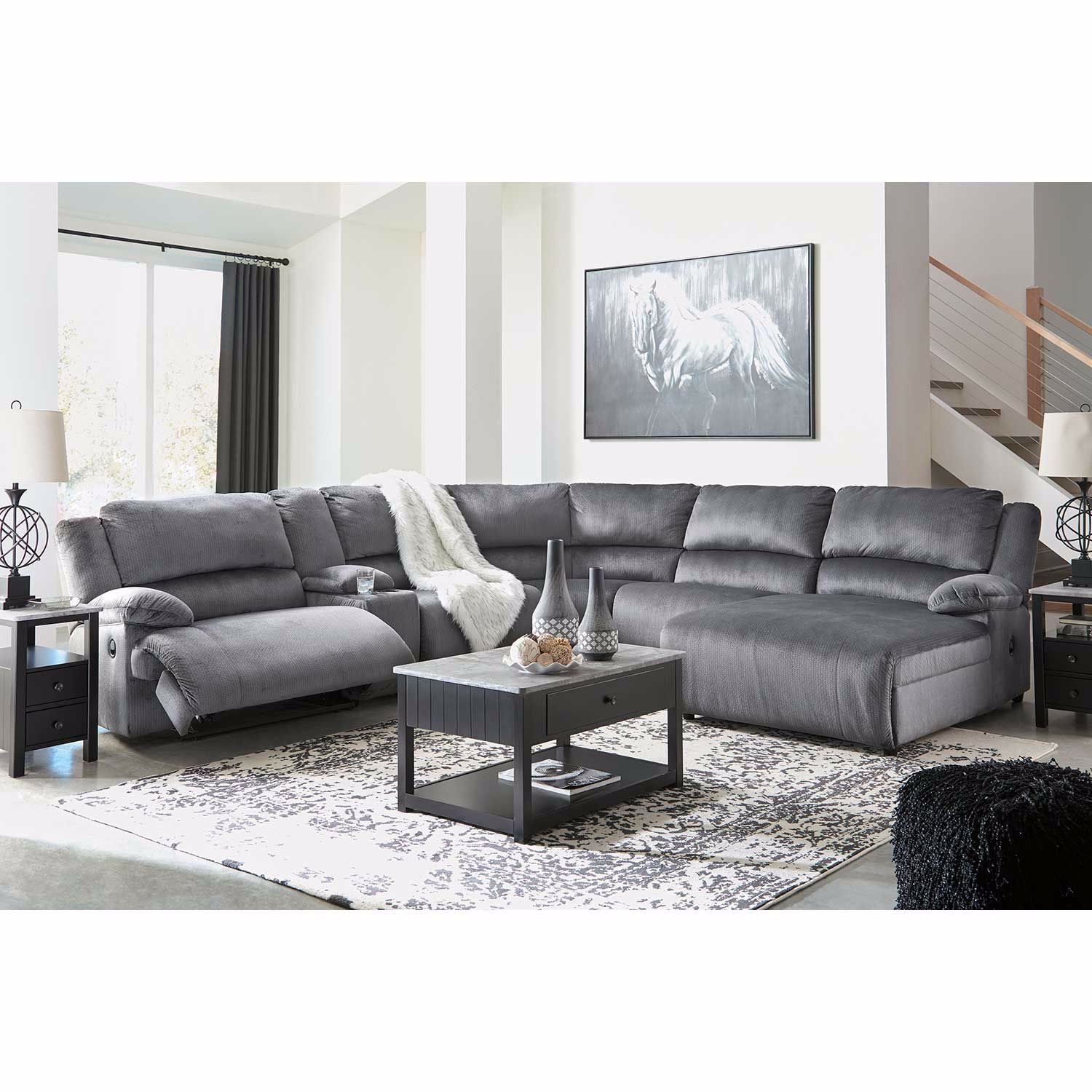 Picture of Clonmel 6 Piece Power Reclining Sectional with RAF Chaise