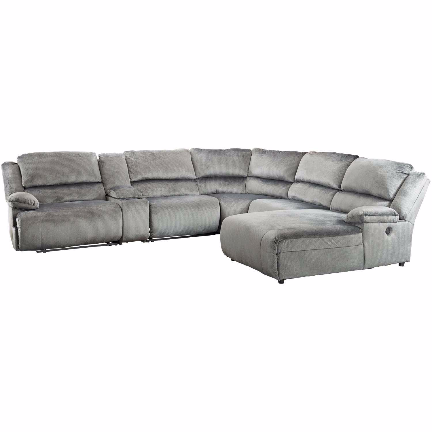 Clonmel 6 Piece Reclining Sectional with RAF Chaise