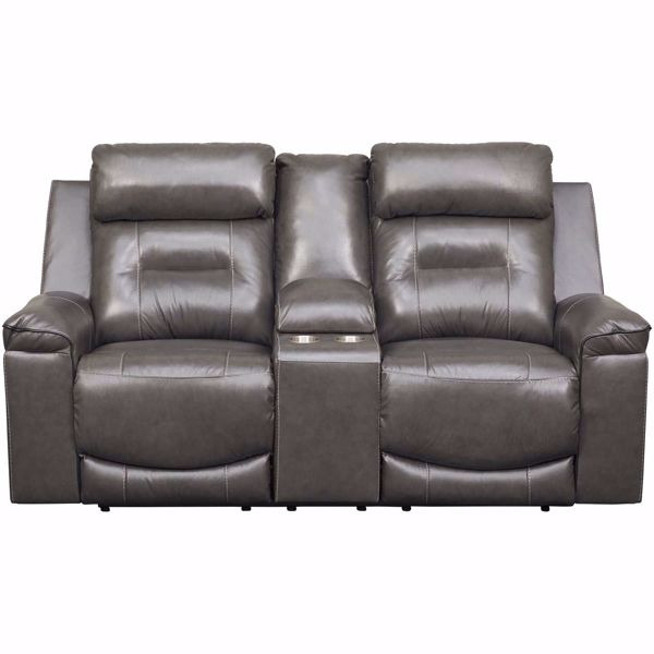 Picture of Pomellato Leather Power Reclining Loveseat