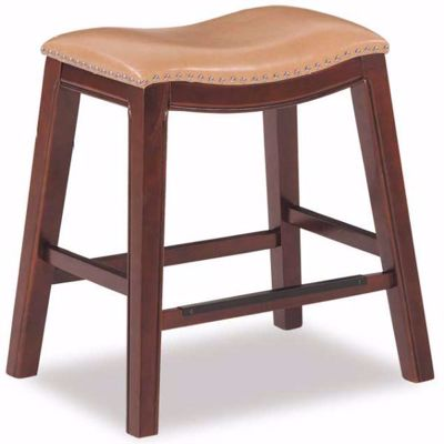 "Picture of Tan 24"" Padded Saddle Stool"
