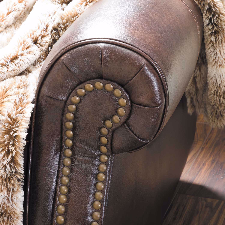 Picture of Buncrana Italian Leather Power Recliner with Adjustable Headrest
