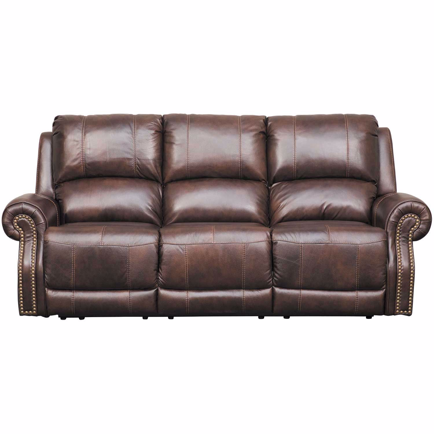 Buncrana Italian Leather Power Reclining Sofa with Adjustable Headrest