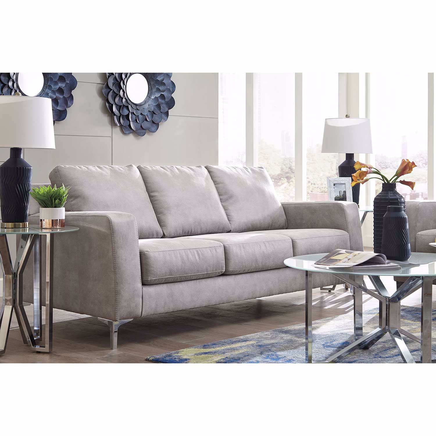 Picture of Ryler Steel Ottoman