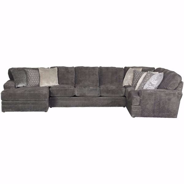 Mammoth 3 Piece Sectional With Laf Chaise 4376 75 72 30 Jackson Furniture Catnapper Afw Com