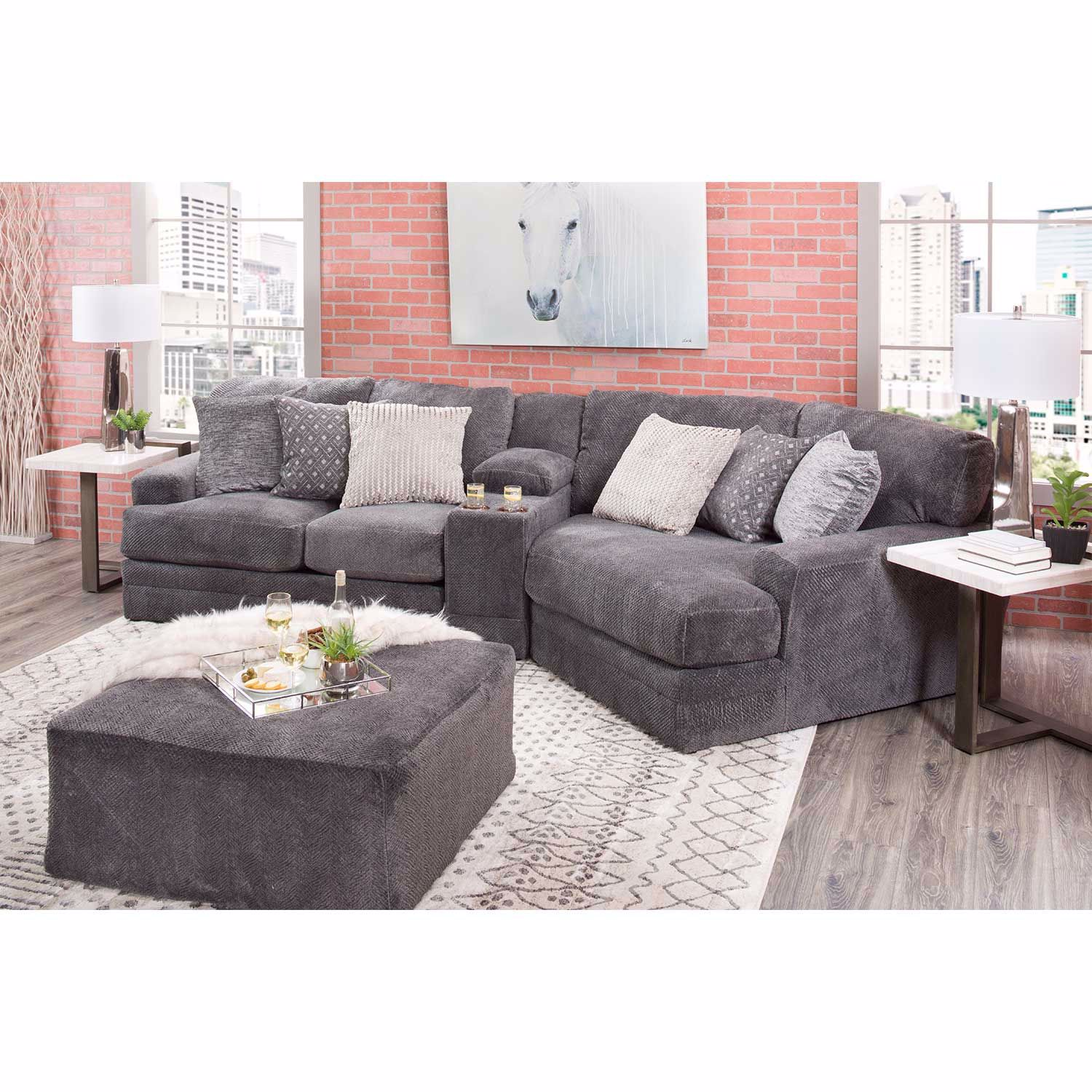 Mammoth 3 Piece Sectional With Laf Wedge 4376 46 84 96 Jackson Furniture Catnapper Afw Com