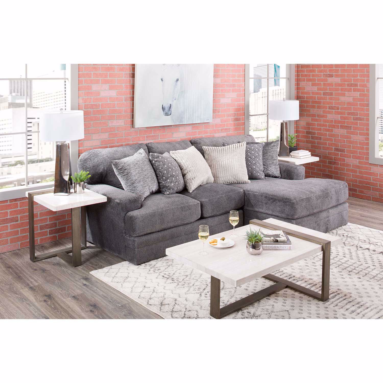 Picture of Mammoth 2 Piece Sectional with RAF Chaise