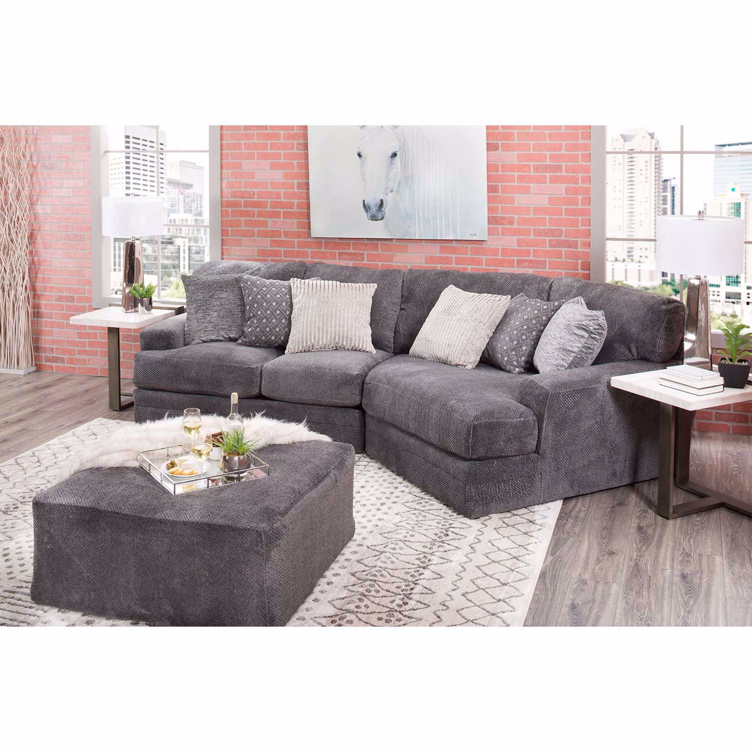 Picture of Mammoth 2 Piece Sectional with RAF Wedge