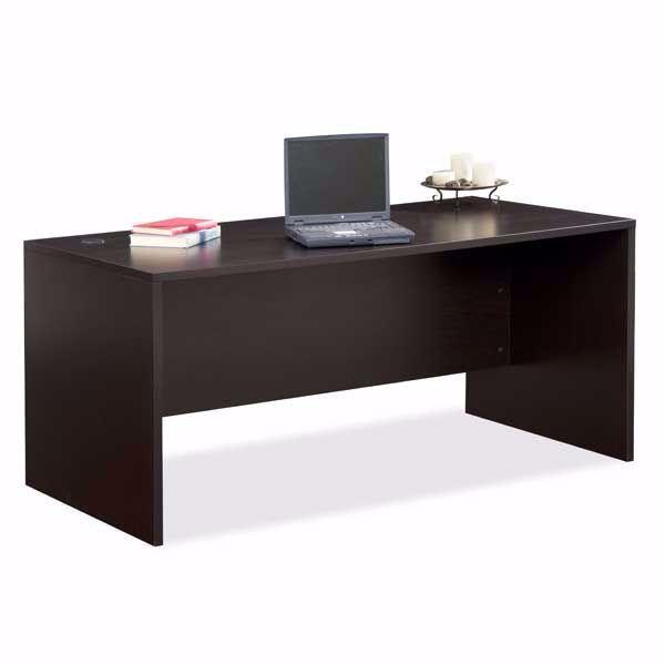 """Picture of Espresso Open 63"""" Modular Desk"""