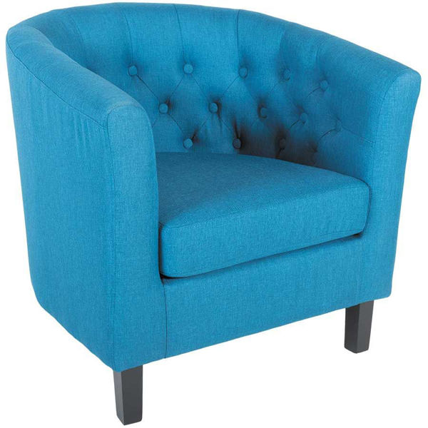 Picture of Mallory Blue Tufted Tub Chair
