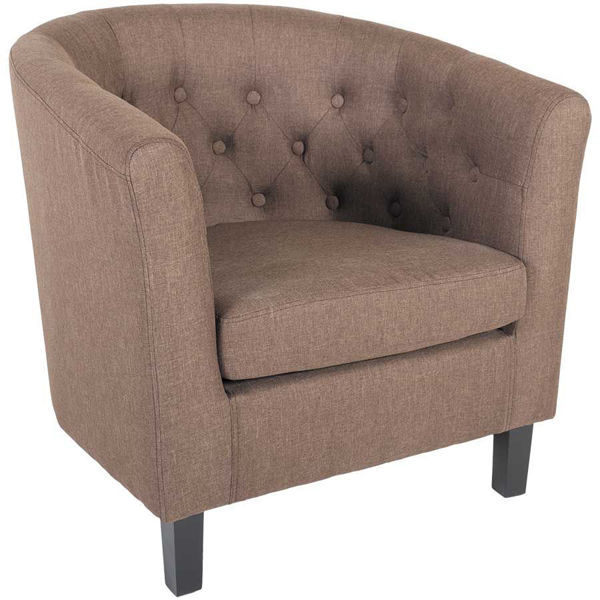 Picture of Mallory Coffee Tufted Tub Chair