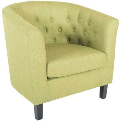 Picture of Mallory Green Tufted Tub Chair