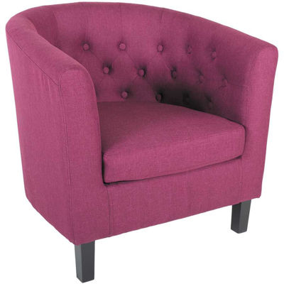 Picture of Mallory Purple Tufted Tub Chair