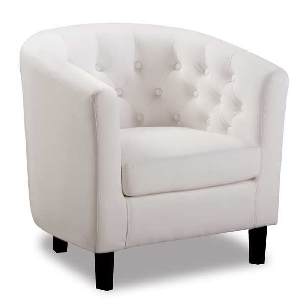 Picture of Mallory White Tub Chair