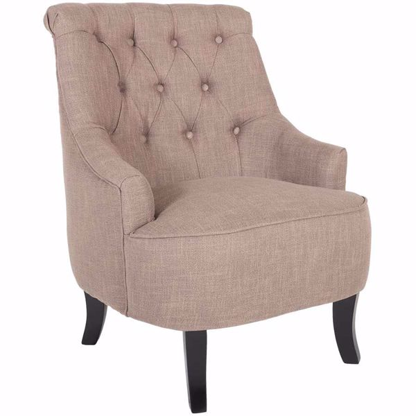 Picture of Ophelia Tufted Armless Chair - Brown