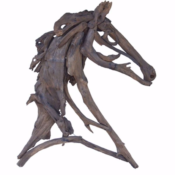 Picture of Teak Horse Sculpture