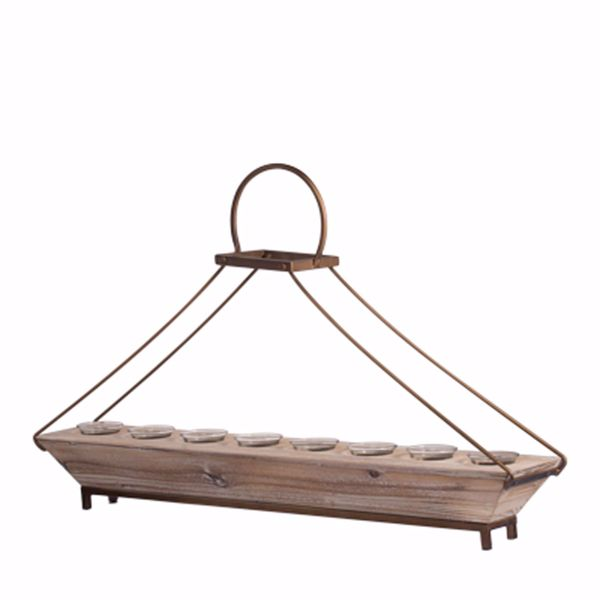 Picture of Bellamy Modern Long Wood Candle Holder
