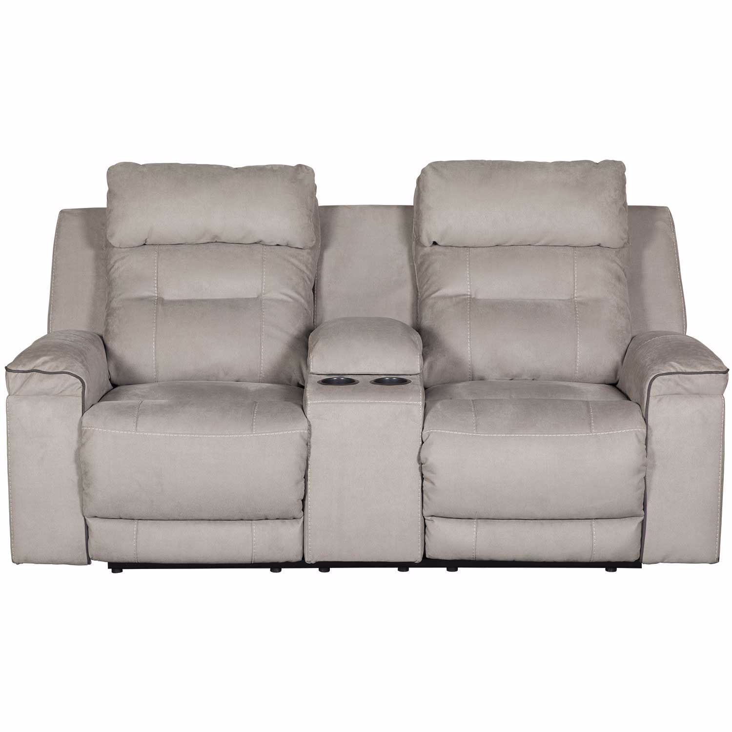 Trampton Power Reclining Console Loveseat With Headrest