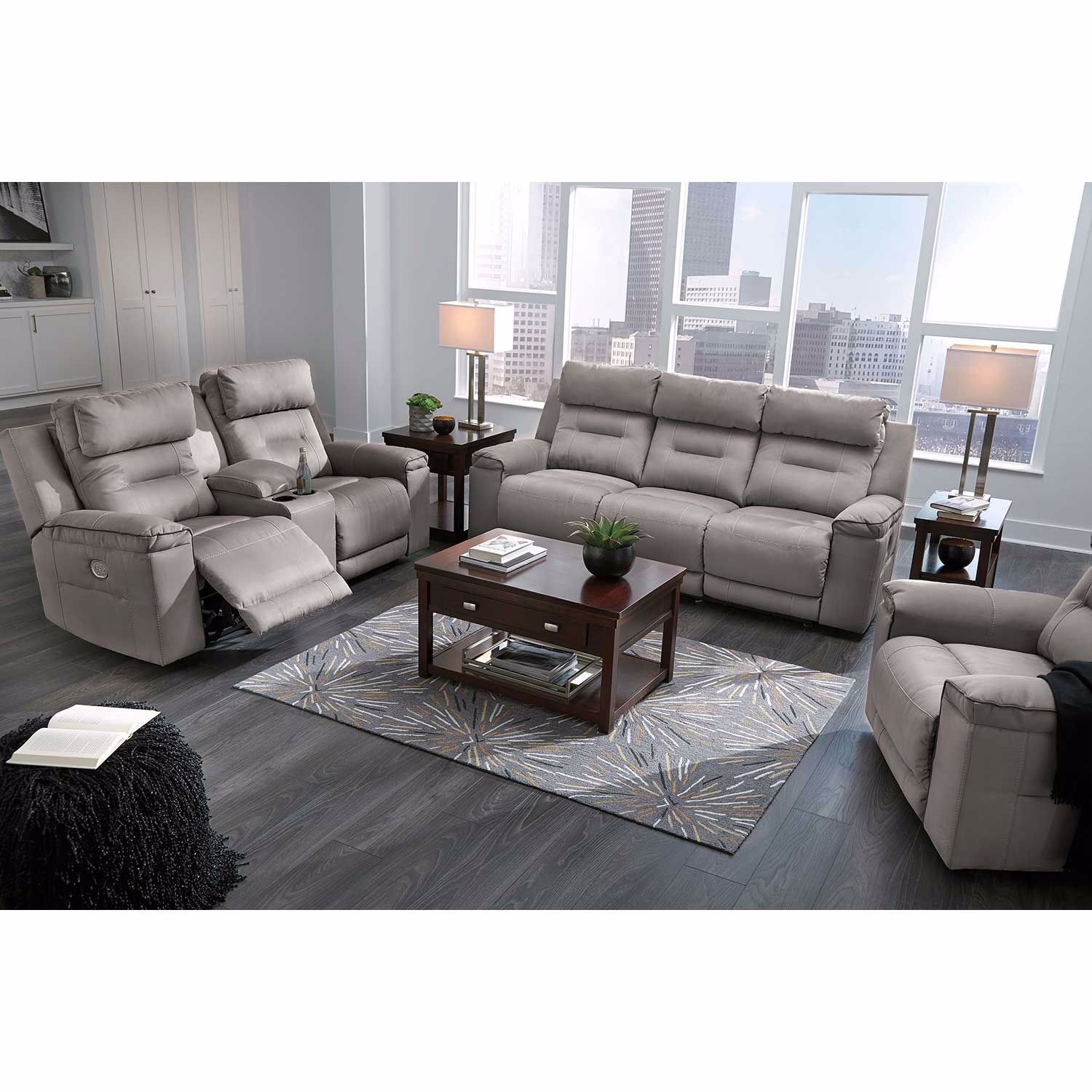Picture of Trampton Power Reclining Sofa with Headrest and Lumbar