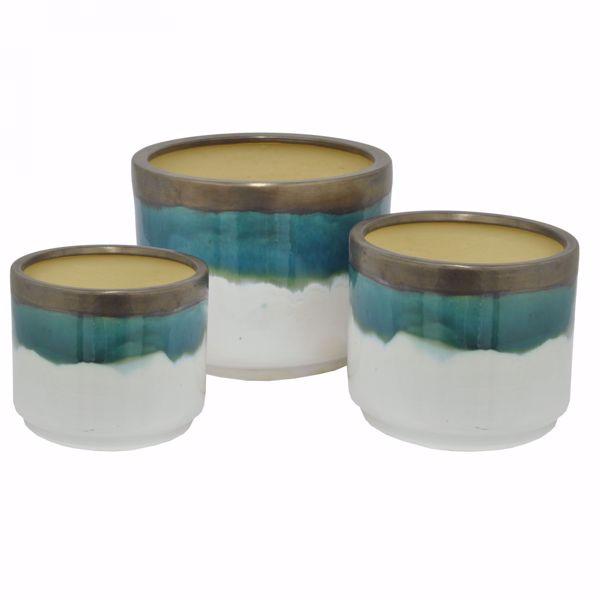 Picture of Set of 3 Ceramic Planters