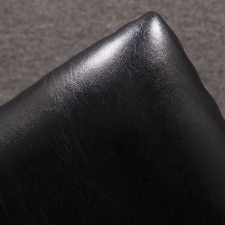 "Picture of Ryland Black 24"" Padded Saddle Stool"