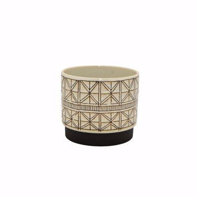 Picture of Ceramic Planter with Geometric Design
