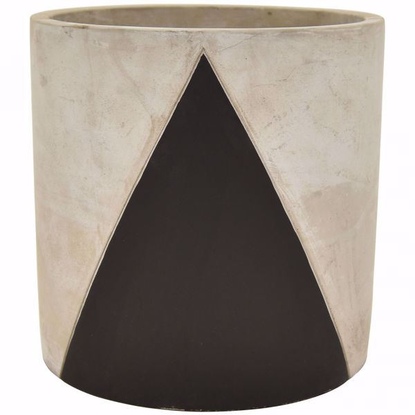 Picture of Grey and Black Cement Planter