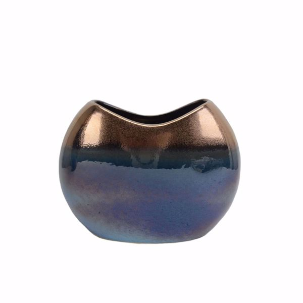 Picture of Copper Blue Oval Vase