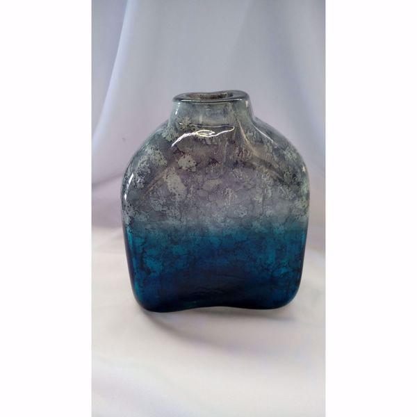 Picture of Silver Blue Glass Vase