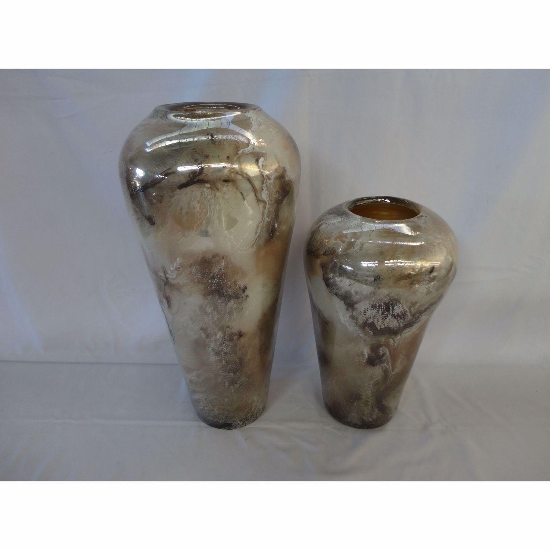 Picture of Swirled Metallics Glass Vase