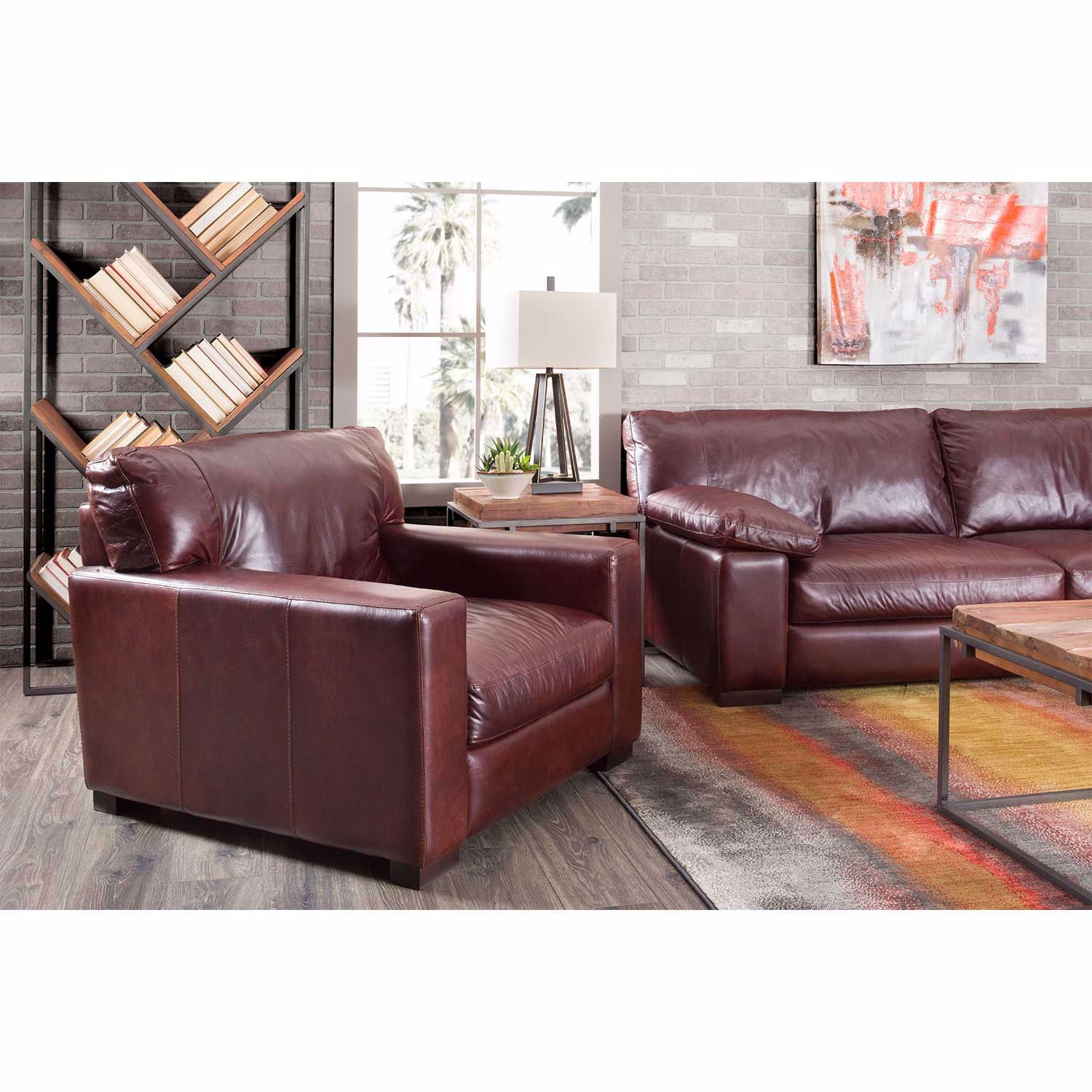 Picture of Barcelona All Leather Loveseat