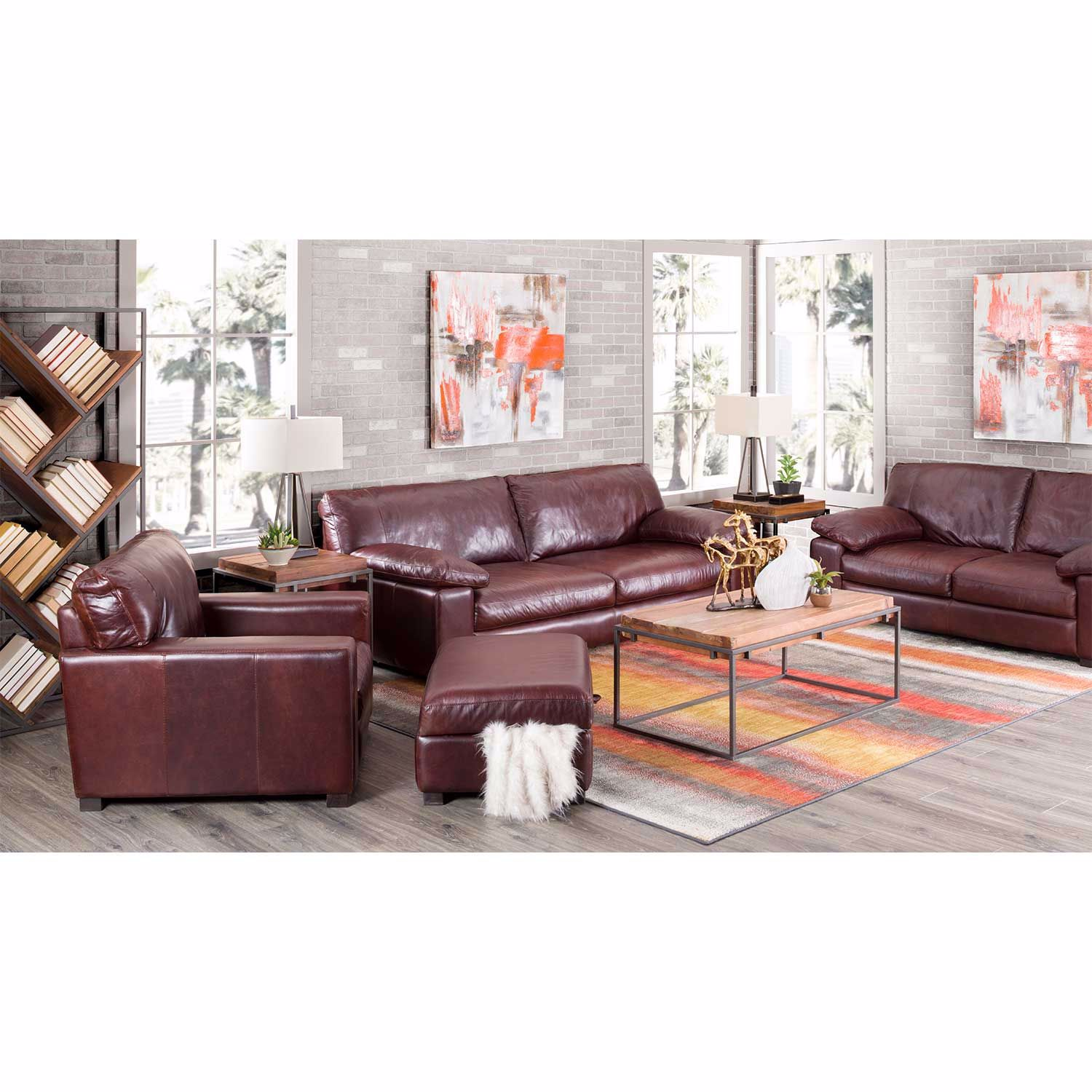 Picture of Barcelona All Leather Storage Ottoman