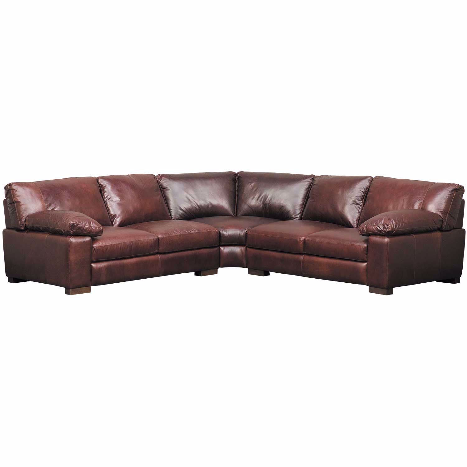 Barcelona All Leather 3 Piece Sectional