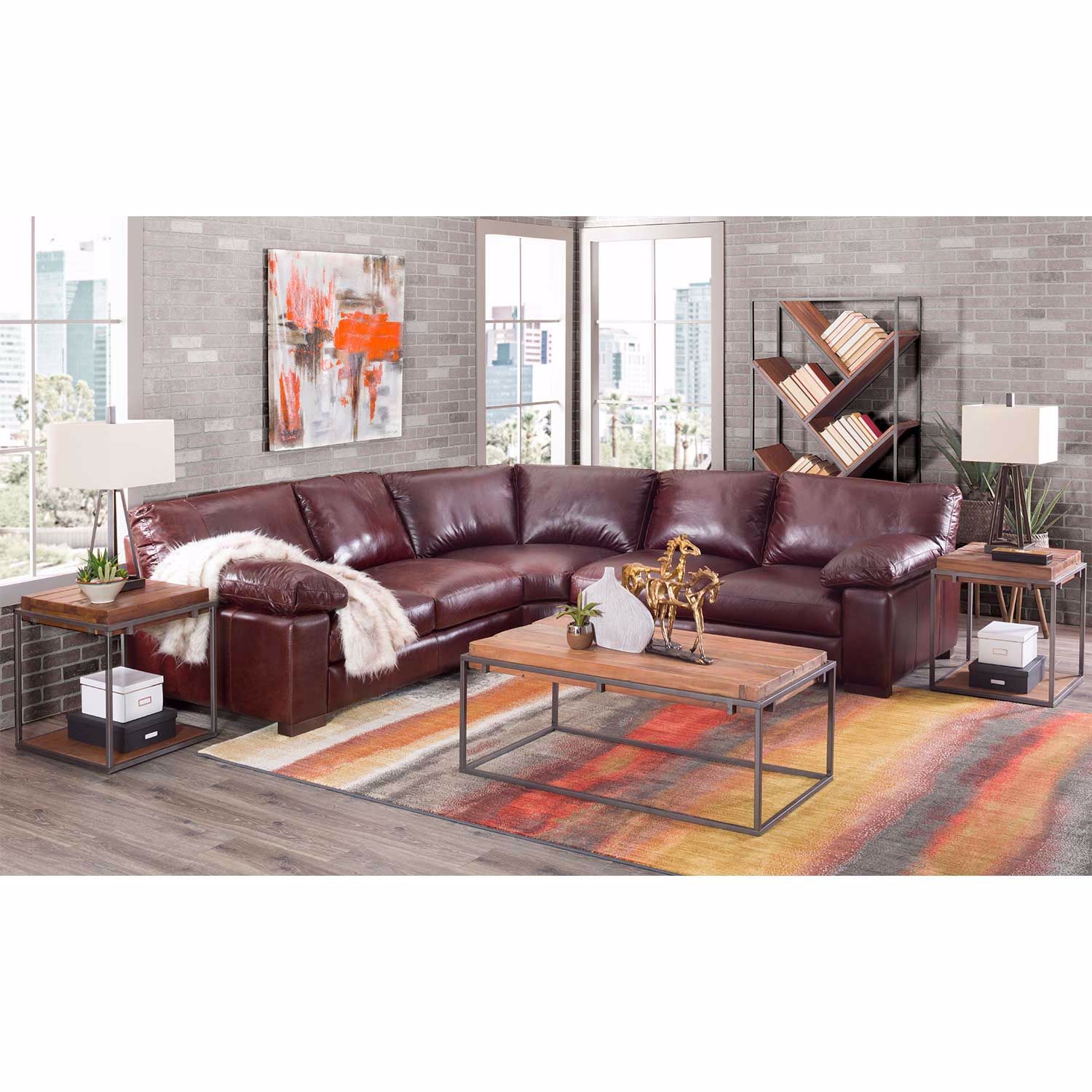 Picture of Barcelona All Leather 3 Piece Sectional