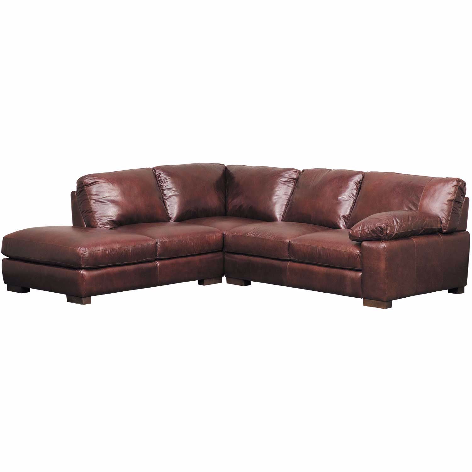 Pleasant Barcelona All Leather 2 Piece Sectional With Laf Chaise Unemploymentrelief Wooden Chair Designs For Living Room Unemploymentrelieforg