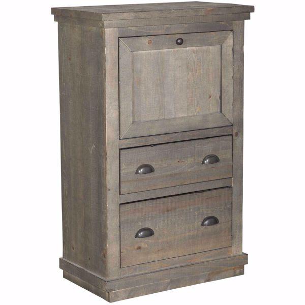 Picture of Farmhouse Dark Grey Armoire Desk