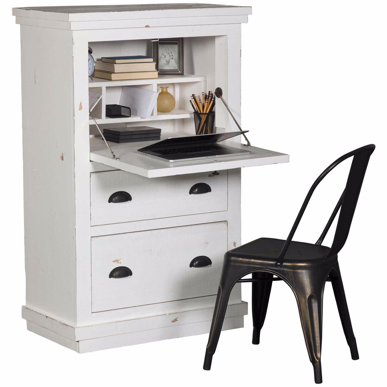 Farmhouse White Armoire Desk | A610-71 | Progressive ...