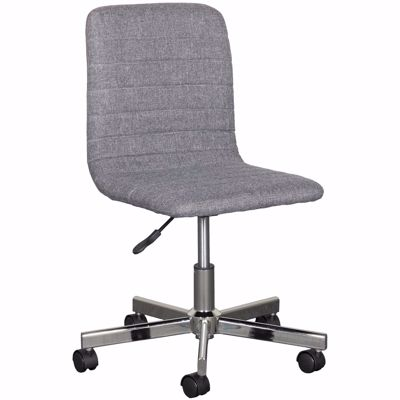 Picture of Gray Linen Office Chair