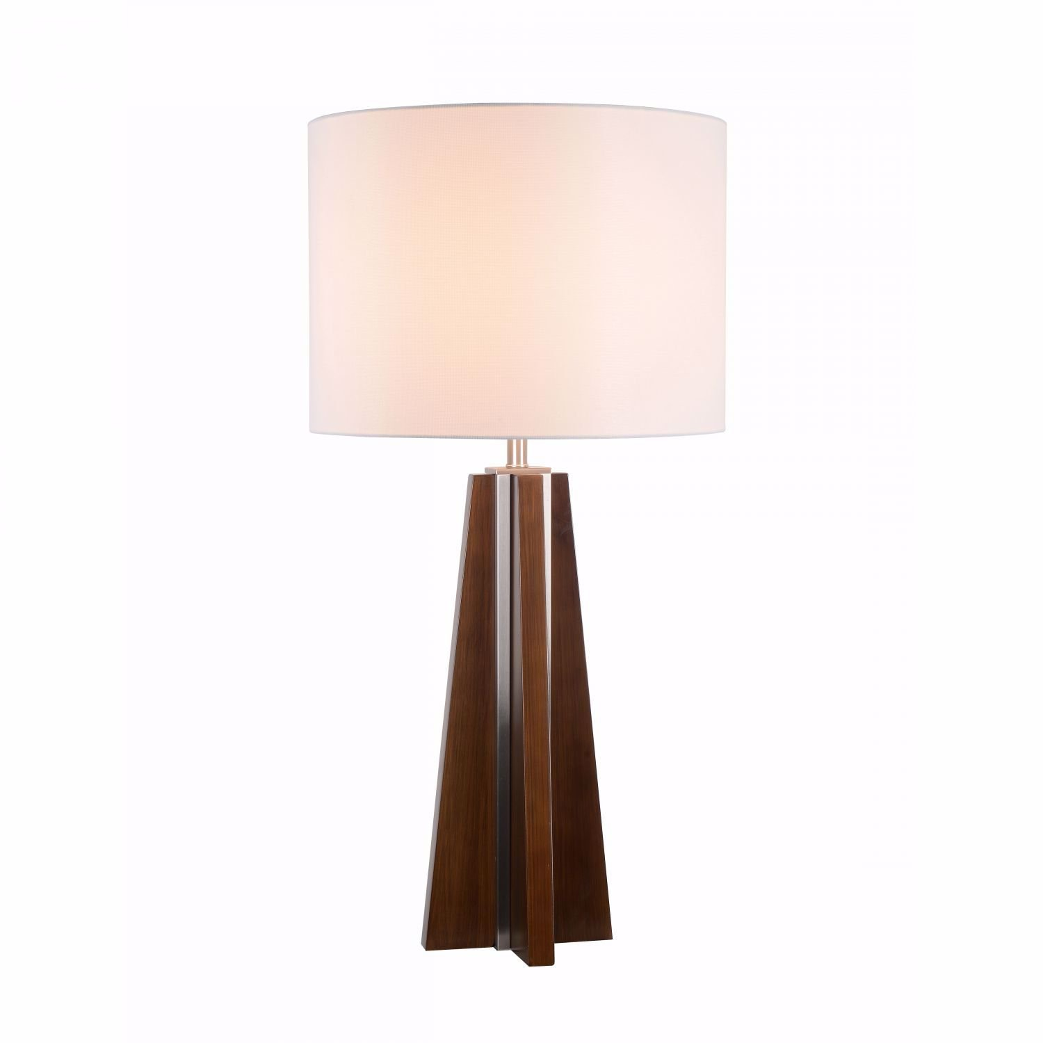 Picture of Walnut Wood And Steel Lamp
