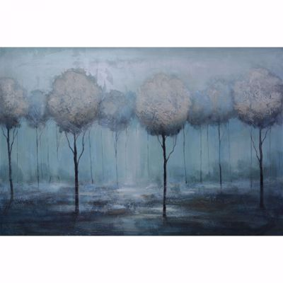 Picture of Trees In Blue Hand Painted