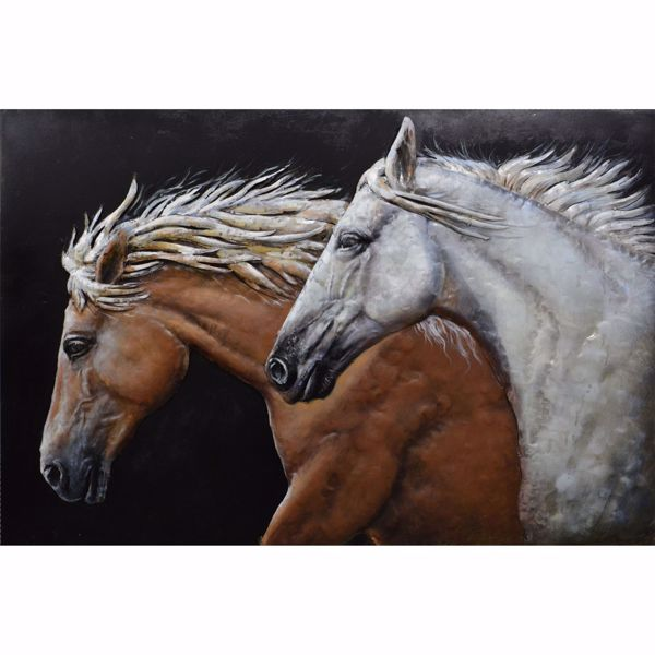 Picture of Horses On Metal