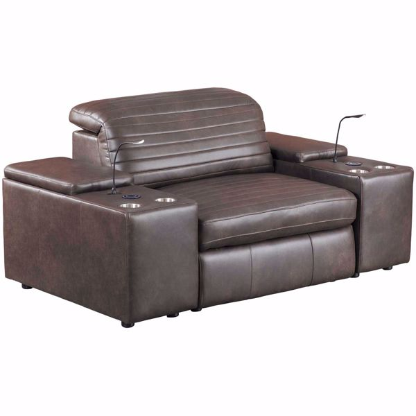 Picture of Jett 3 Piece Leather Power Reclining Sectional
