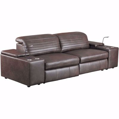 Picture of Jett 4 Piece Leather Power Reclining Sectional