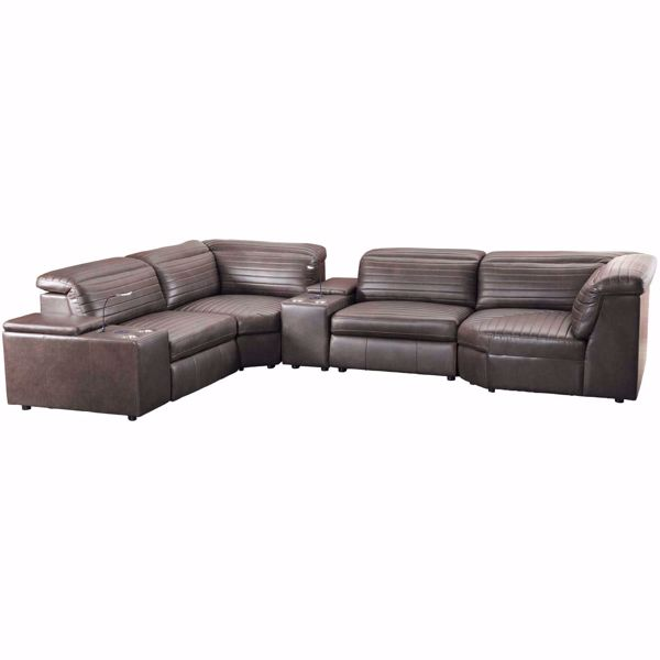 Picture of Jett 6 Piece Leather Power Reclining Sectional
